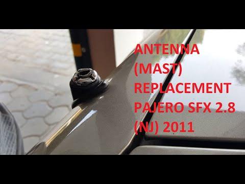 Power Antenna Mast Replacing In Mitsubishi Pajero Nj Sfx 2 8 2011
