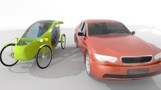 видео: Веломобиль концепт Velomobile show (bike bicycle) pedal human power