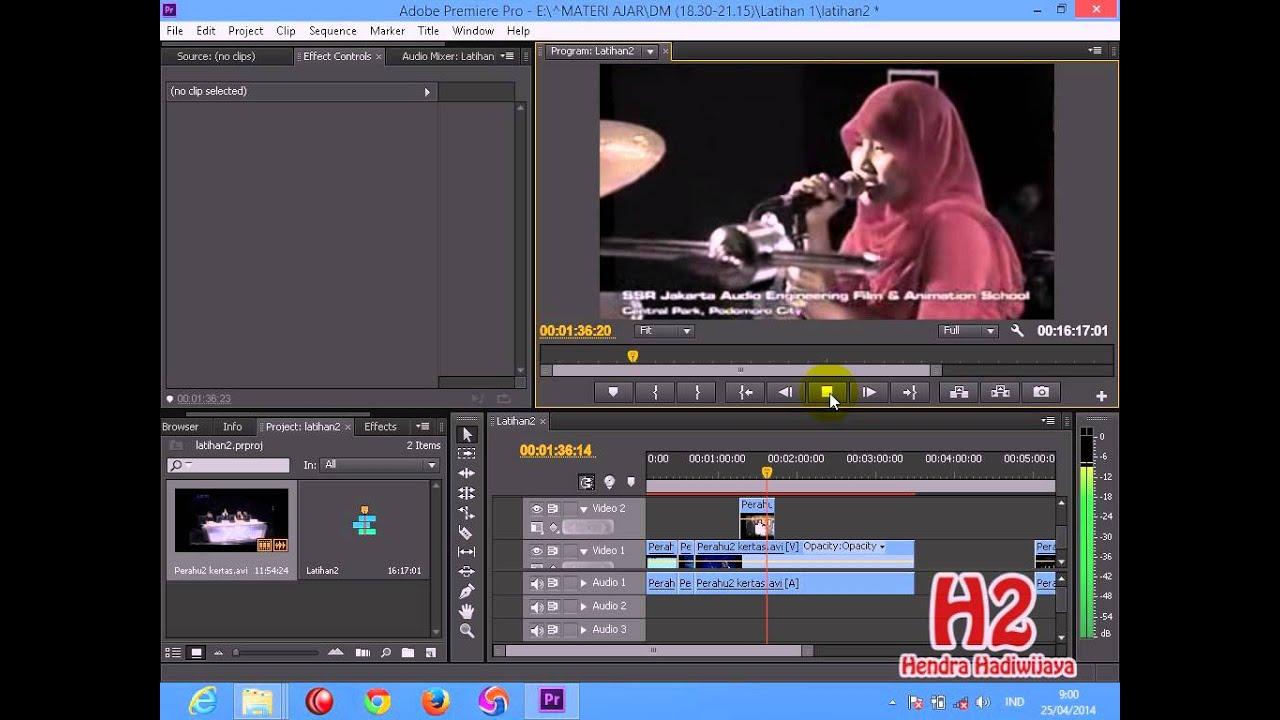 Tutorial Cara Mengedit Video di Adobe Premiere CS 6 - YouTube