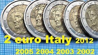 2 euro Italy 2002 2003 2004 2005 2012 2€ 5 Сoin Italia Dante Alighieri