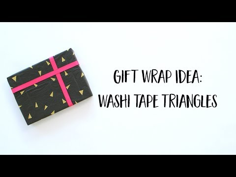 Wrapping Paper DIY: Washi Tape Triangles (Short Version)