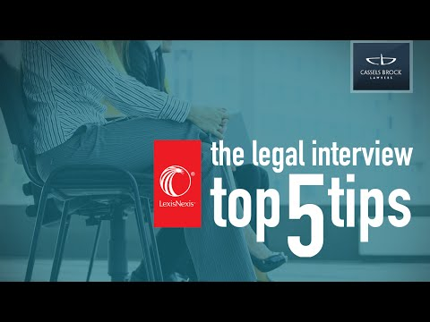 Top 5 Legal Interview Tips