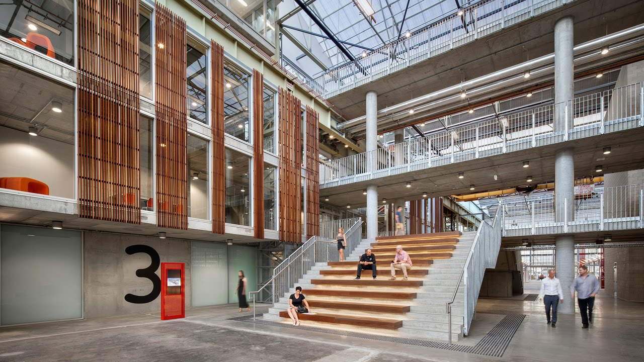 MPH Architects reuse car factory to create Sustainable