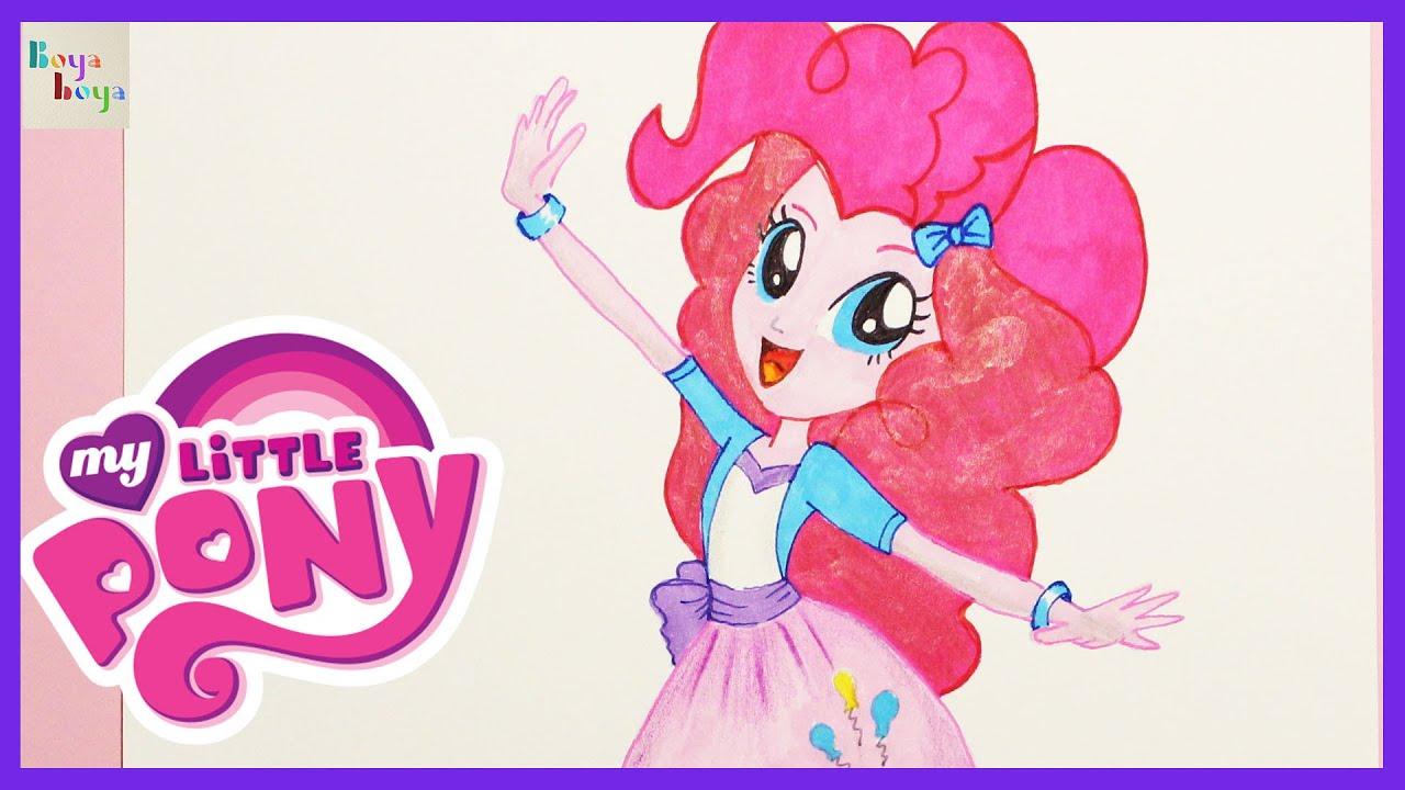 My Little Pony Pinkie Pie Nasıl çizilir çizim Teknikleri Boya Boya