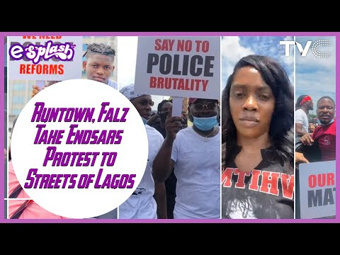#EndSars Protest:  Falz, Runtown Join Forces With Nigerian Youths