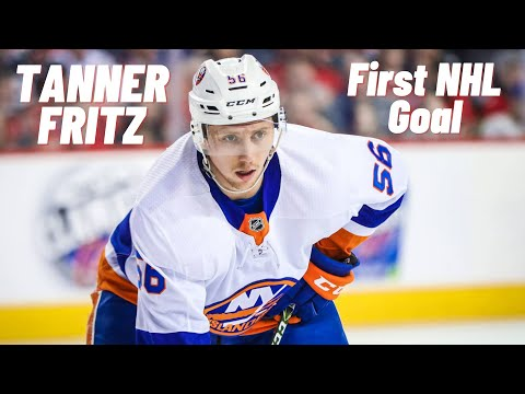 Tanner Fritz #56 (New York Islanders) first NHL goal 19.02.2018