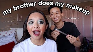 MY BROTHER DOES MY MAKEUP   Nicole Laeno