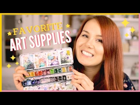 My Top Favorite Art Supplies Collection   Favorite Watercolor Painting & Drawing Materials & Tools