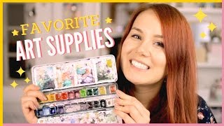 My Top Favorite Art Supplies Collection | Favorite Watercolor Painting & Drawing Materials & Tools