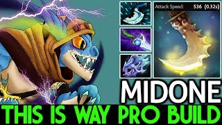 Midone [Slark] This is way Pro Build Max Attack Speed 7.21 Dota 2