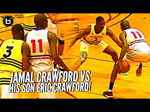 Jamal Crawford vs HIS SON Eric Crawford!! When You Gotta Guard Your Dad But He's J Crossover