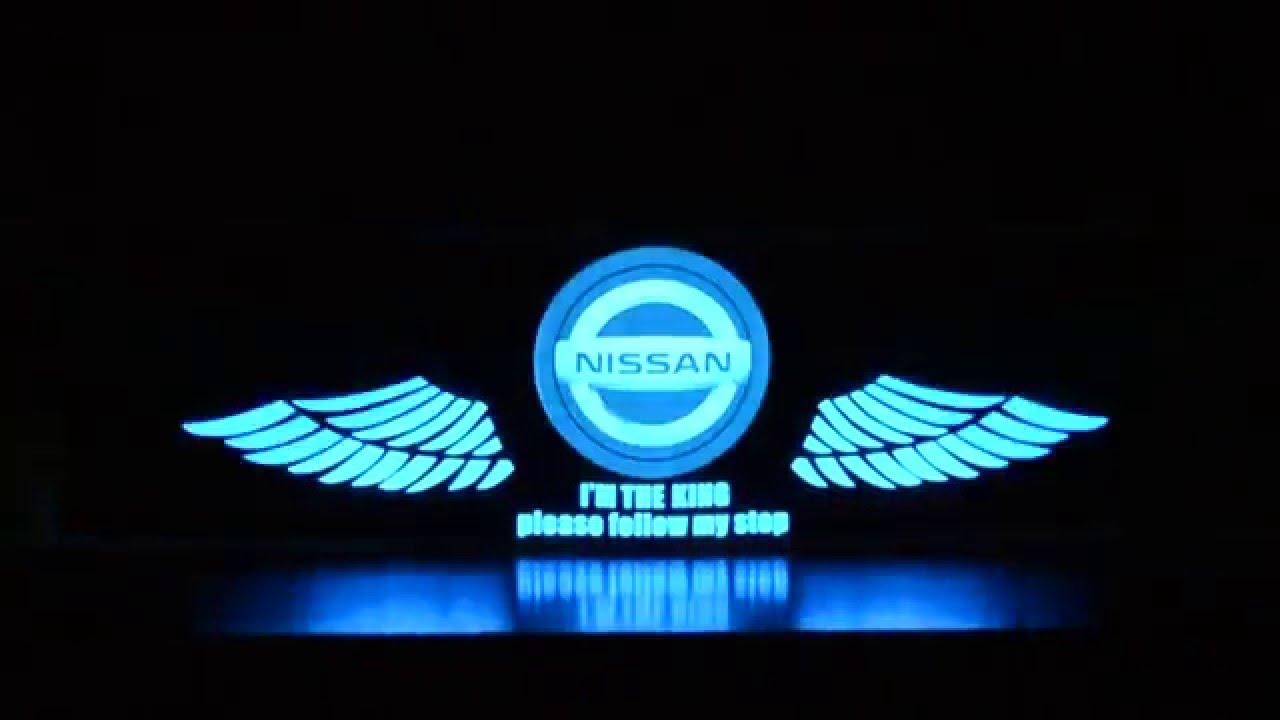 Nissan car stickers sound active equalizer glow led light