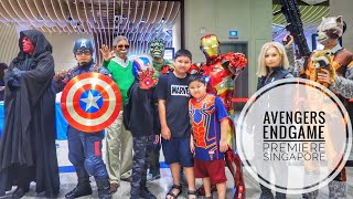 Avengers Endgame Premiere Singapore