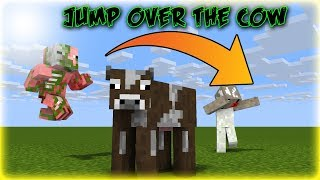 MONSTER SCHOOL | JUMP OVER THE COW - Minecraft Animations