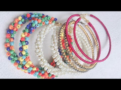 5 Handmade Hoop Earring DIY | Hoop Earring Making Tutorial | Jewelry Idea