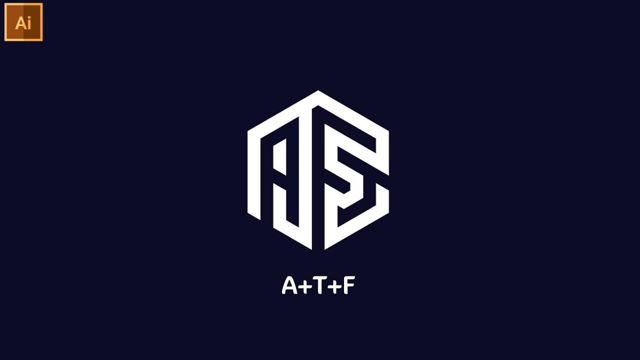 Professional ATF  Polygon  Logo Design In Illustrator   Modern Logo Design   Graphic Hunters