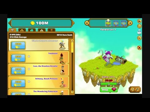 Clicker Heroes Journey Up To Dread Knight 6 Mins Youtube