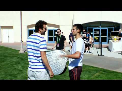 Novak Djokovic Interrupts Justin At Indian Wells