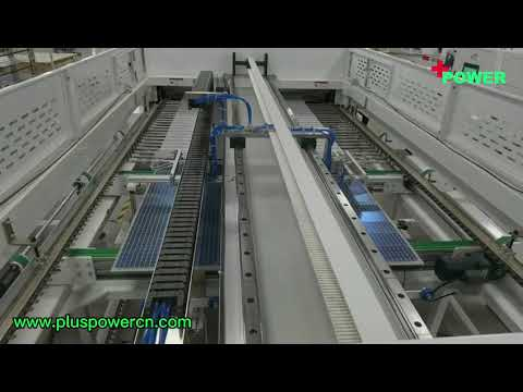 Plus Power solar panel producing with automated machines --2