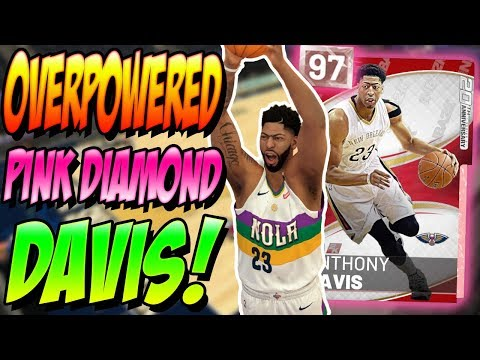 NBA 2K19 MYTEAM PINK DIAMOND ANTHONY DAVIS GAMEPLAY! DID HE JUST BREAK THE GAME!?