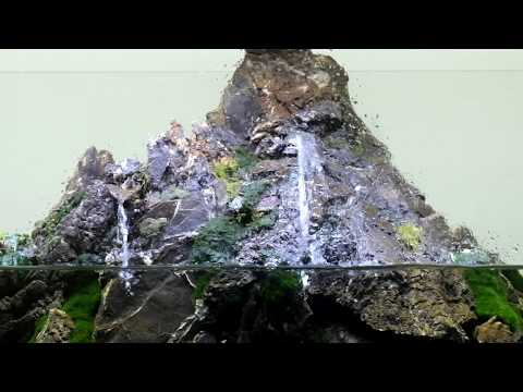 Waterfall aquarium nature.