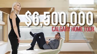 Inside a $6.5 MILLION Luxury Home in Calgary! - Million Dollar Tours Ep.1