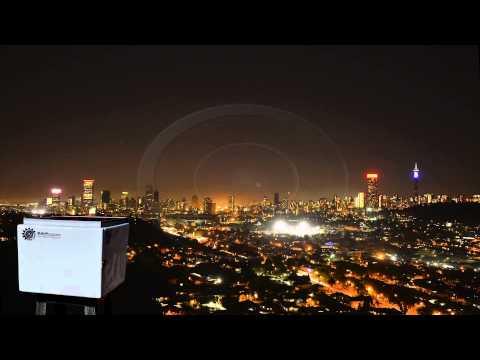 Time Lapse Johannesburg Night Skyline