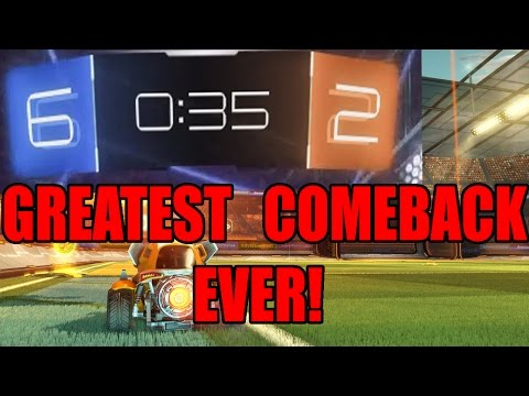 Greatest Comeback in Rocket League | 4 Goals in 35 Seconds!