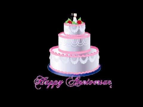Wedding anniversary cake with photo editing the best cake of