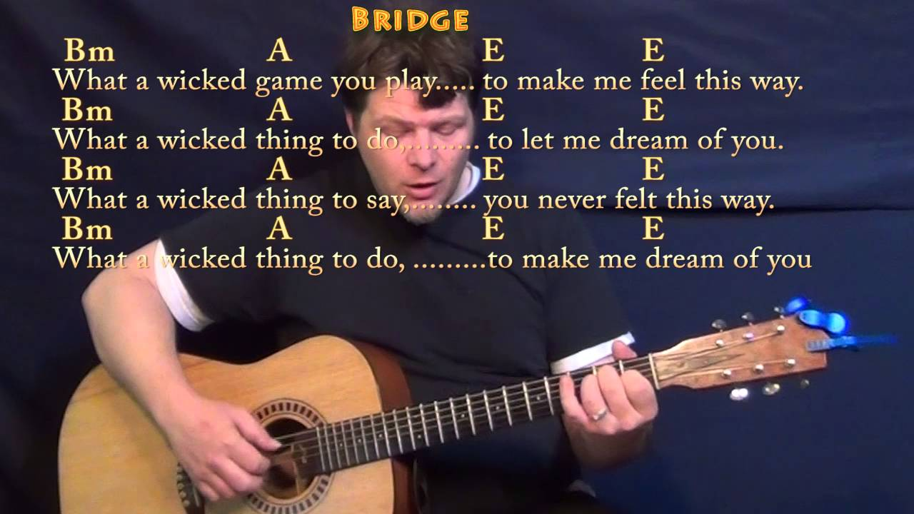 Wicked Game Chris Isaak Fingerstyle Guitar Cover Lesson In A With