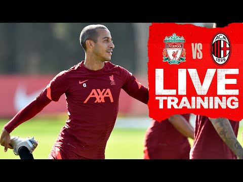 Champions League training: Liverpool warm up before Milan visit