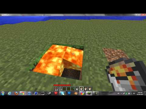 Cool Minecraft Secret Lava Room Trick (No Mods)