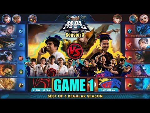 Game1 Cignal VS SGD Omega | MPL PH S3 Regular Season