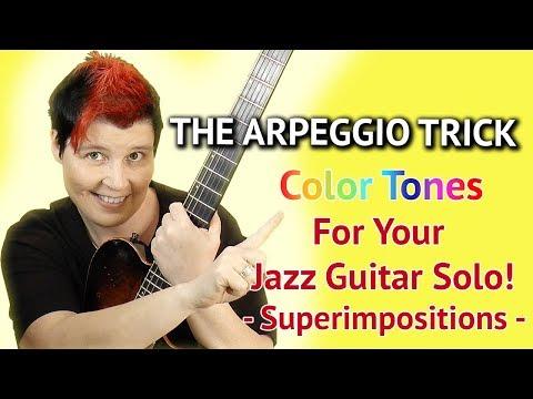 Superimposition Arpeggio Stacking on Minor Chords - Guitar Lesson