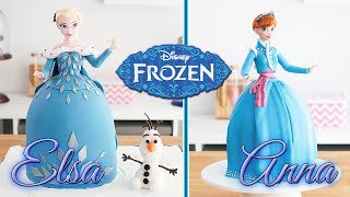 FROZEN CAKES ❄️ Elsa & Anna Doll Cakes 💙 Tan Dulce