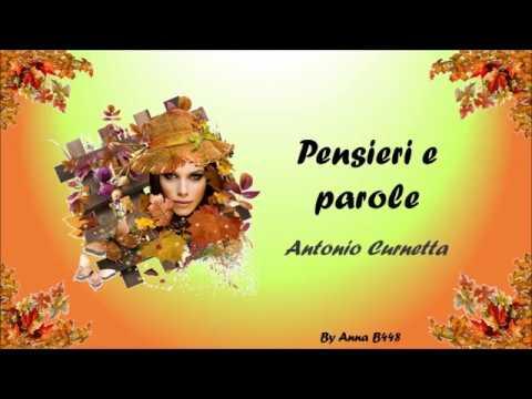 Pensieri E Parole Di A Curnetta By Anna B448 Youtube