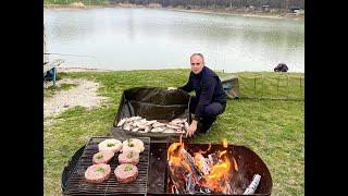 На рыбалку за карасем. \Старый Пруд\ Крым.