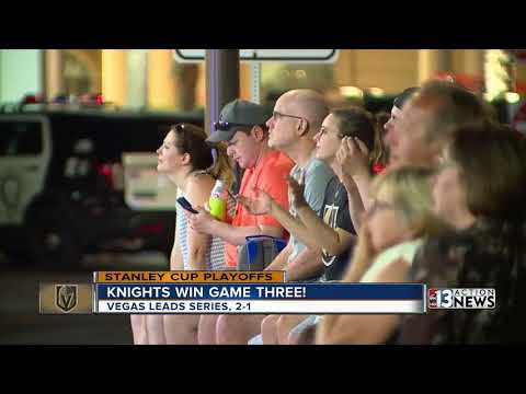 Golden Knights fans celebrate Game 3 victory