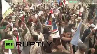 Yemen: Armed protesters rally against Saudi-led airstrikes