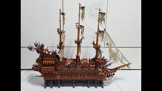 lepin 16016 Pirates of the Caribbean : Flying Dutchman 레핀 16016 캐리비안의 해적 플라잉 더치맨 조립영상