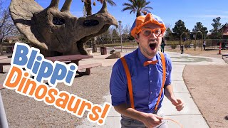 Download lagu Blippi Visits Dinosaur Exhibition | Explore with BLIPPI!!! | Educational Videos for Toddlers