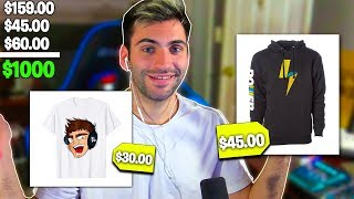 Buying $1000 of Gaming Merch LIVE