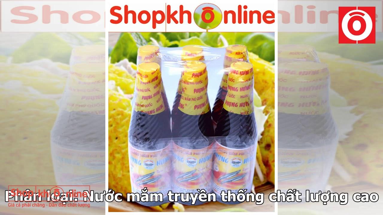 Nước mắm Phú Quốc Phụng Hưng 45 độ đạm hộp 6 chai sành 150ml