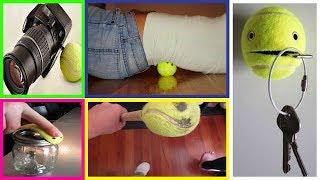 Life Hacks 12 Unusual Uses Of Tennis Balls  Cricket Tap Ball Uses  New Life Hacks