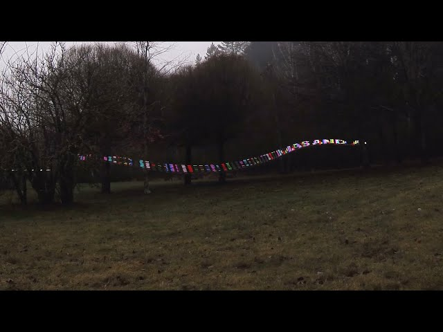 Light painting with fpv drone