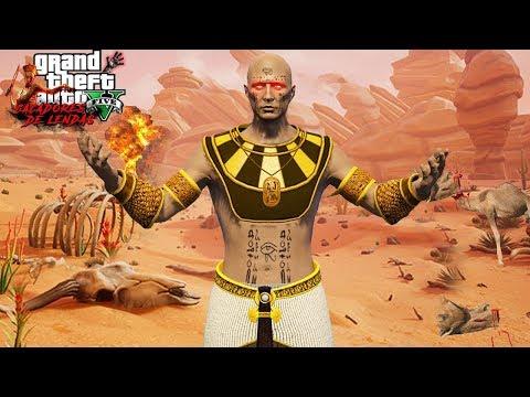 A LENDA DA MUMIA DO DESERTO!! (Assustador) GTA 5 Caçadores de Lendas thumbnail