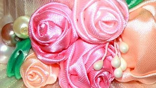 Плотная Роза из атласной ленты / DIY Satin Ribbon Rose