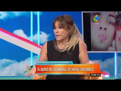 Cinthia Fernández descubrió mensajes en el celular de Defederico y estalló todo