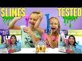Testing KARINA GARCIA'S DIY SLIME KIT! - Slushie Slime, Bubble Wrap Slime, Glow in the Dark & More!