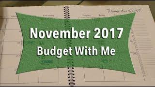 November 2017 Budget With Me | KeAmber Vaughn